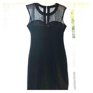 Express sequin black mini dress